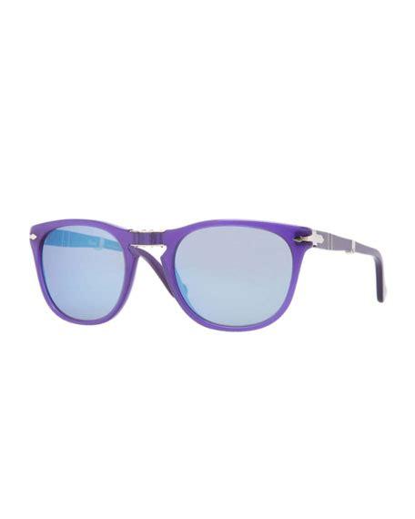 Persol Handmade Sunglasses - persol plastic folding sunglasses blue curacao