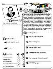 english teaching worksheets martin luther king