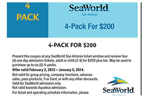 seaworld parking coupon san diego