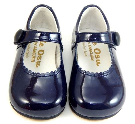 de osu spain toddler navy blue patent leather