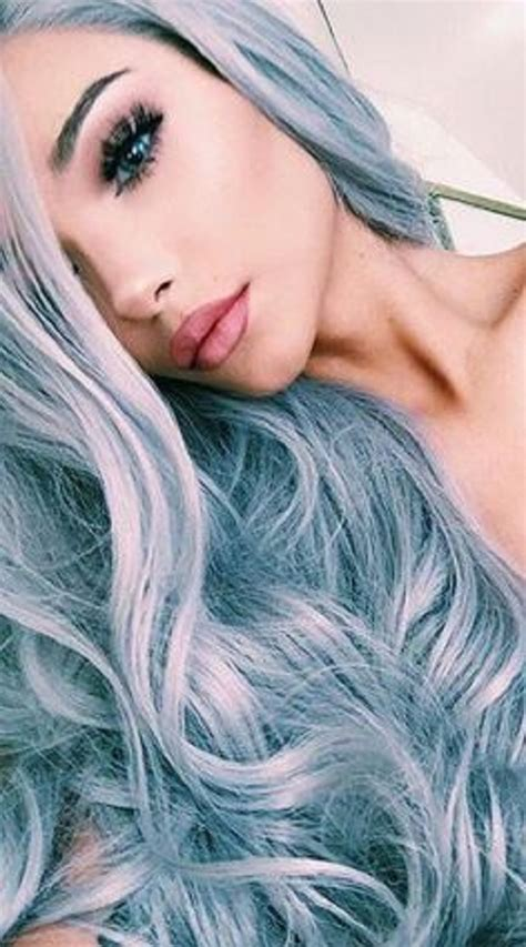 graying blue hair women grey blue hair color trends for all season and all