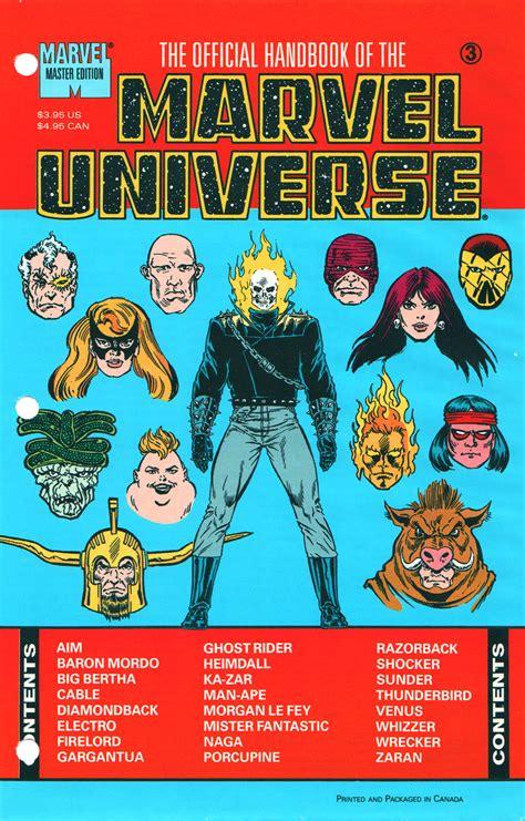 Master Vol 6 1 official handbook of the marvel universe master edition vol 1 3 marvel database fandom