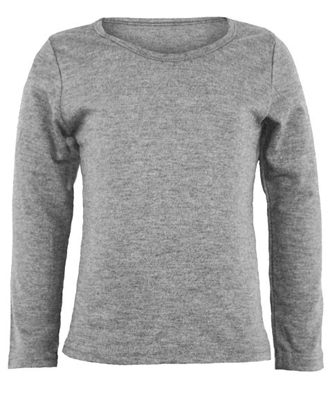 V Basic Grey Top sleeve plain basic top boys t shirt tops crew 1 13y ebay
