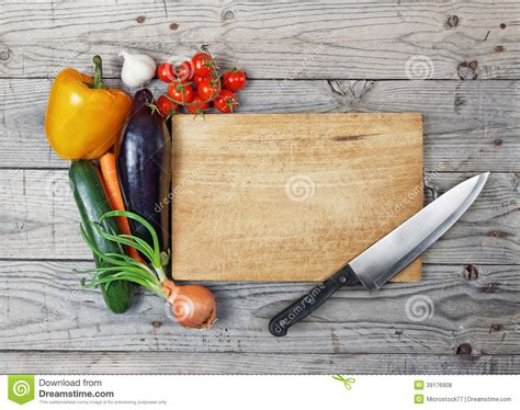 Cooking Board | board cooking ingredient knife stock photo image 39176908