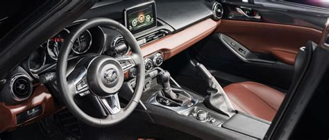 mazda roadster interior take a peek at the 2017 mx 5 miata rf roadster s interior