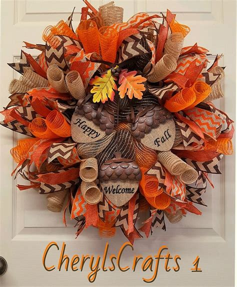 how to make a fall wreaths for front door best 20 fall mesh wreaths ideas on pumpkin