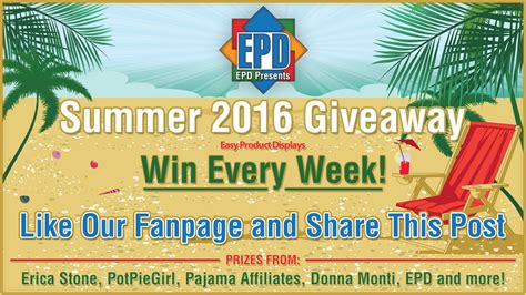 Summer Giveaway - summer giveaway 2016 week 5 july 10 july 16 2016