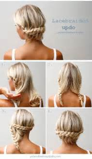 easy updos for shoulder length hair 20 easy no heat summer hairstyle tutorials for medium hair
