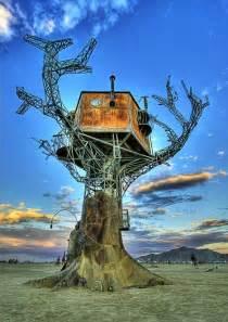 War Rugs For Sale Desert Tree House 3d Metal Steampunk Art At Burning Man