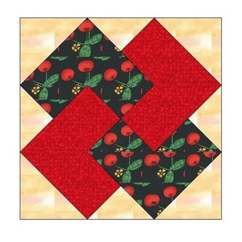 Paper Pieced Quilt Block Patterns by All Stitches Card Trick Paper Piecing Quilt Block