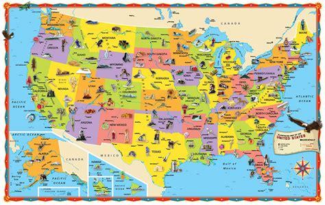 kid friendly map of usa карты с достопримечательностями стран мира иностранно ру