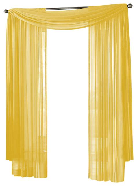 Yellow Window Curtains Hlc Me Sheer Curtain Window Neon Bright Yellow Scarf Traditional Curtains By Home