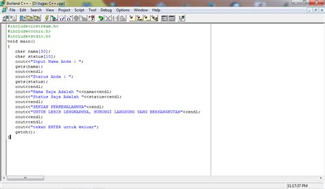 membuat html biodata sederhana contoh program biodata singkat menggunakan borland c