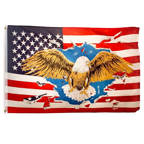 eagle usa flag ft  ft printed polyester
