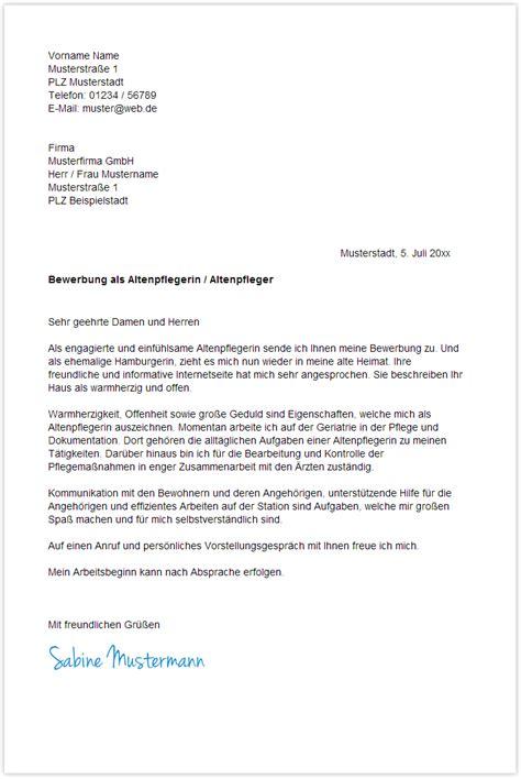 Initiativbewerbung Anschreiben Dachdecker Bewerbung Als Altenpflegerin Yournjwebmaster