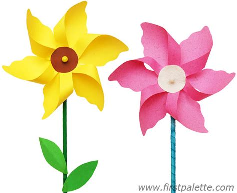 How To Make Pinwheel Flowers From Paper - 7 best images of printable template pinwheel flowers