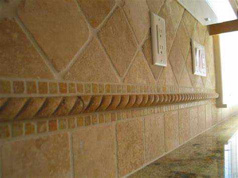 ceramic instead of travertine this backsplash of