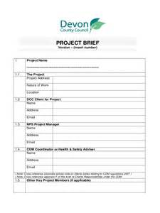 brief template project brief template 4 free templates in pdf word