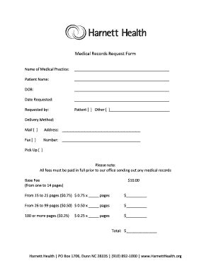 medical records request form for california pictures to