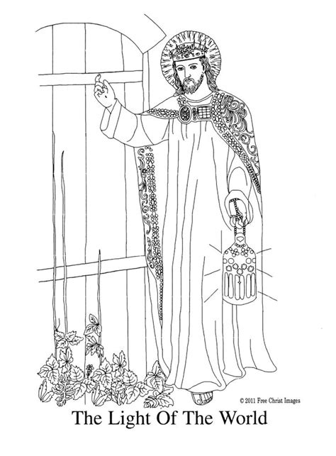 coloring page for light of the world jesus is the light of the world coloring page az