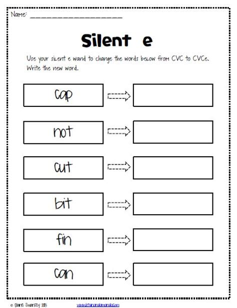 Silent E Worksheets 25 best ideas about silent e on vowel
