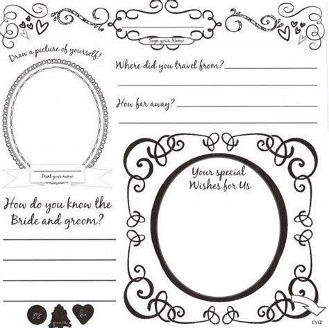34 Best Dyi Printable Wedding Guest Book Alternative Templates Images On Pinterest Printable Guest Book Template