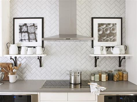 backsplash patterns for the kitchen 11 creative subway tile backsplash ideas hgtv