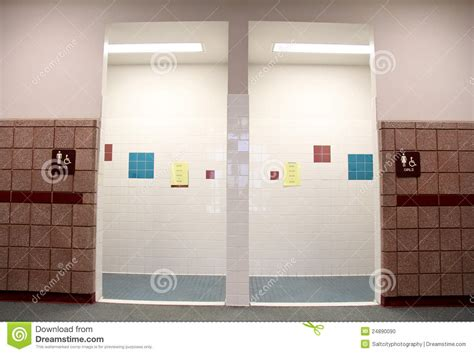 boys in girls bathroom boys girls restrooms stock photo image of white wash