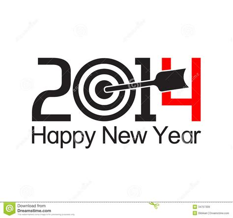 new years text happy new year 2014 text design royalty free stock images
