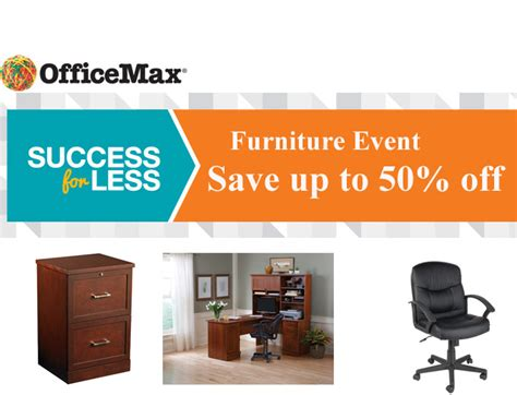 Officemax Furniture Sale Event Up To 50 Off Office Max Furniture Sale