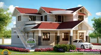outside house house with outside staircase kerala home design and