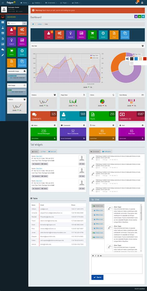 bootstrap themes metro falgun metro style bootstrap admin dashboard by