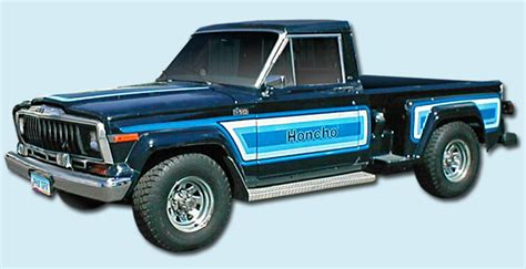 jeep honcho stepside phoenix graphix 1981 1982 honcho j10 stepside sportside