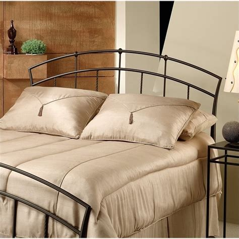 hillsdale vancouver metal headboard in brown antique