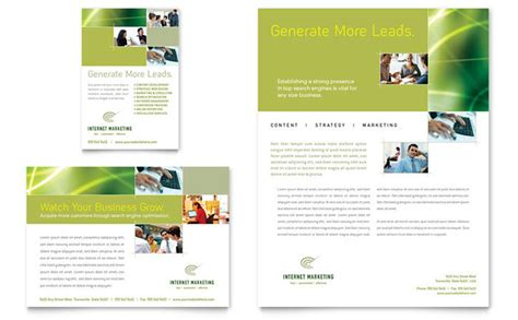 advertising brochure templates free marketing flyer ad template design