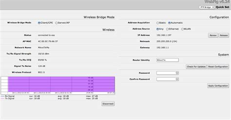 Wifi Mikrotik wifi mikrotik wireless bridge bad ping with load server fault