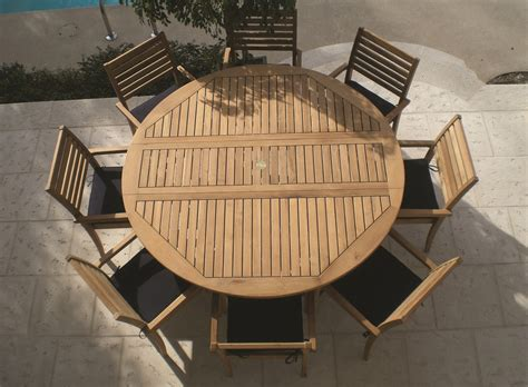 Patio Chairs And Table Royal Teak 9pc 6 Drop Leaf Teak Patio Table Set W 8 Teak Stacking Chairs Ebay