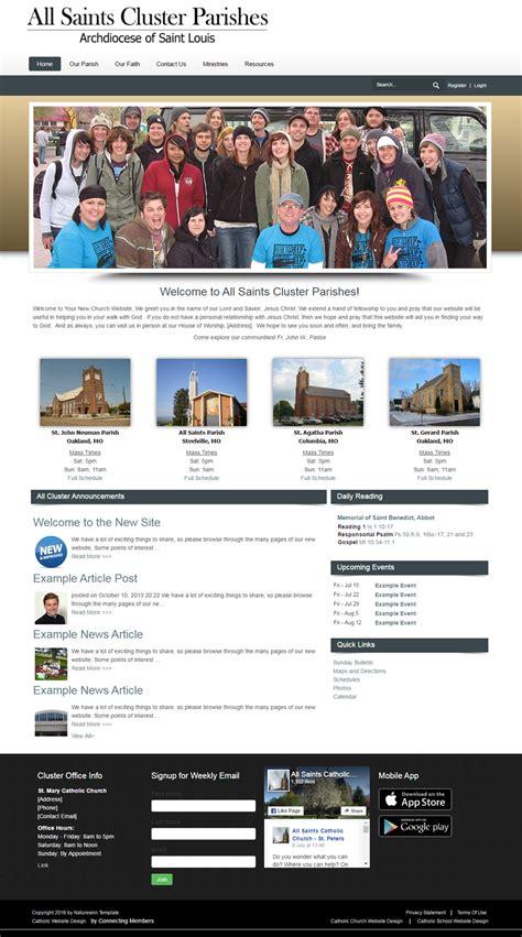 church website templates free catholic church website template nature