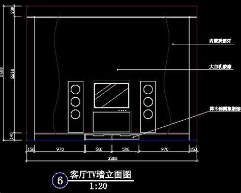 templates autocad gratis 电视背景墙cad设计施工图20 设计本cad图块下载