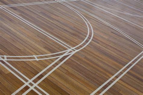 wooden sports floor restoration linemarking