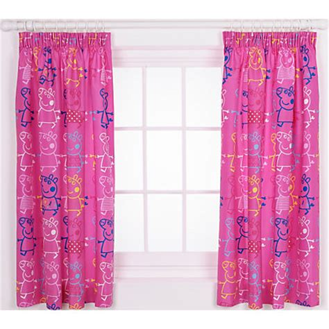 peppa pig curtains image for peppa pig rocks curtains 168 x 137cm pink