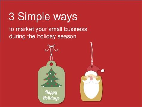 reunited for the holidays series 1 3 simple ways to market your small business during the