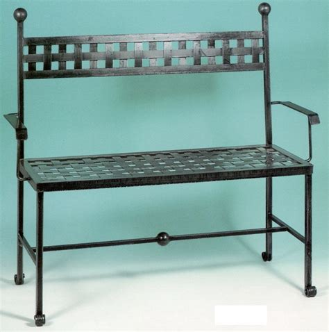 panchina in ferro battuto divano divanetto panchina panca ferro battuto cm 120