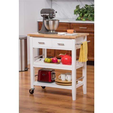 Kitchen Cart With Drawers by 30 In W Wood Kitchen Cart With Drawers And Tray