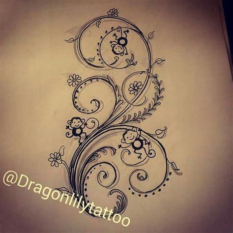 henna tattoo vegas monkey henna vines flowers thigh vegas