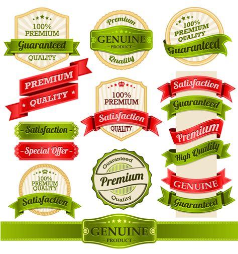 design label in html exquisite ribbon label design vector free vector graphic