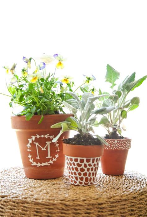 homemade flower pots ideas diy mother s day ideas great gifts plants and clay
