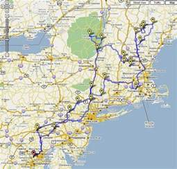 new road trip map suggested routes repinned by