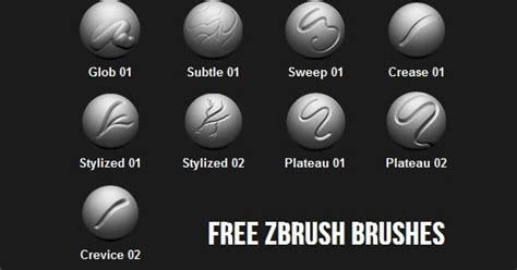 zbrush tutorial download free free zbrush brushes cg daily news