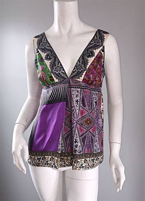 Silk Patchwork - beautiful etro multi print silk patchwork babydoll